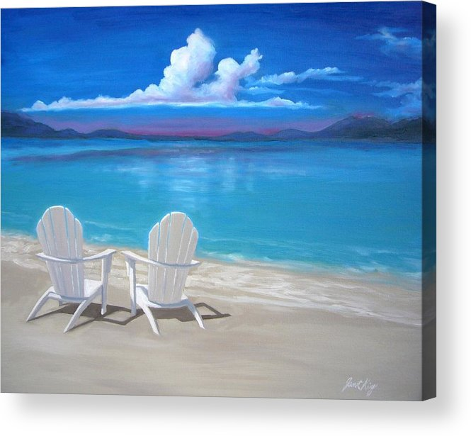 This Painting Is Currently For Sale. Please Contact The Artist Directly To Inquire About Purchasing This Artwork. Acrylic Print featuring the painting Peace by Janet King