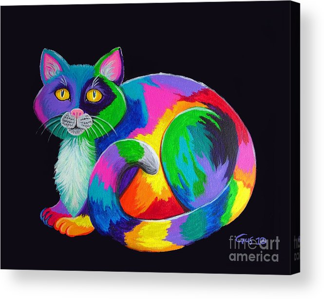 Art Acrylic Print featuring the painting Rainbow Calico by Nick Gustafson