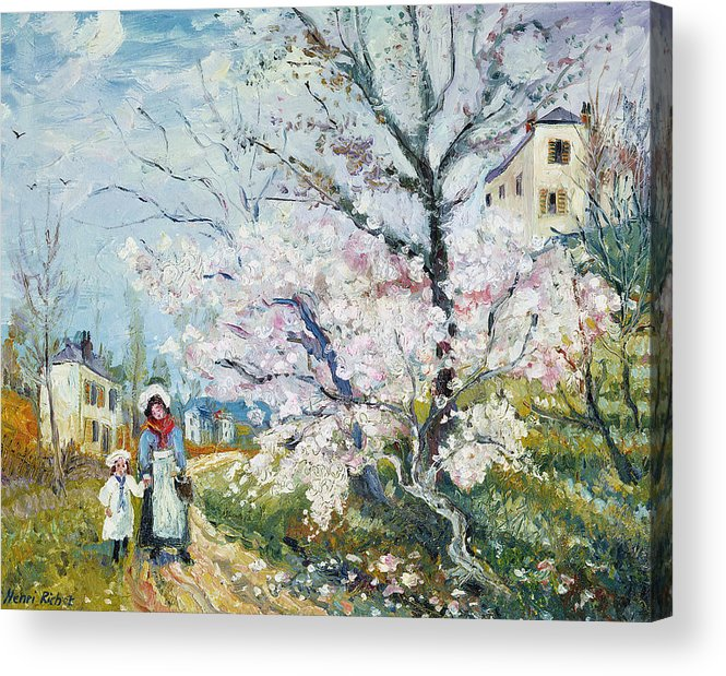 Garden Acrylic Print featuring the painting Spring Blossom by Henri Richet