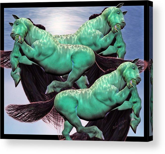 Lightning Acrylic Print featuring the digital art When Lightning Strikes by Betsy C Knapp