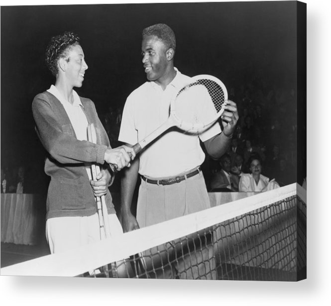 History Acrylic Print featuring the photograph Althea Gibson 1927-2003 And Jackie by Everett