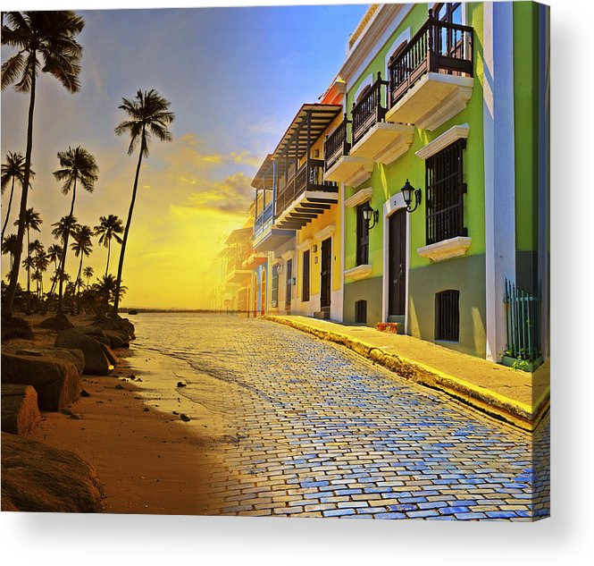 Puerto Rico Acrylic Print featuring the photograph Puerto Rico Collage 2 by Stephen Anderson