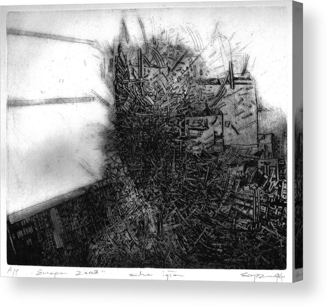 Abstract Acrylic Print featuring the drawing Graphis Art Eurpa 2003 by Waldemar Szysz