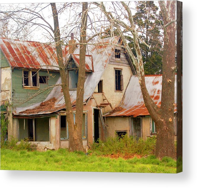 Ozarks Acrylic Print featuring the photograph Haunted House by Marty Koch