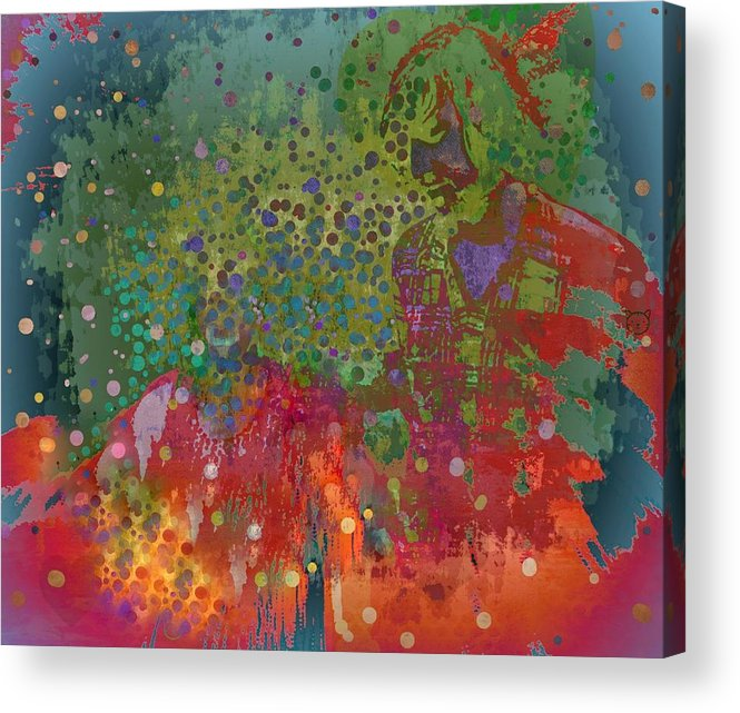 Love Acrylic Print featuring the mixed media Moment by YoMamaBird Rhonda