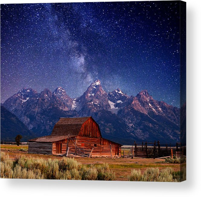 Grand Teton Acrylic Print featuring the photograph Teton Nights by Darren White