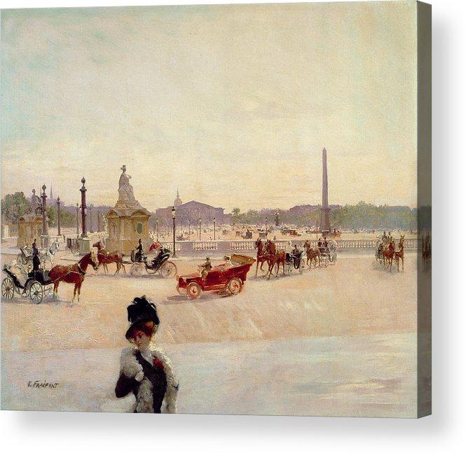 Place Acrylic Print featuring the painting Place De La Concorde - Paris by Georges Fraipont