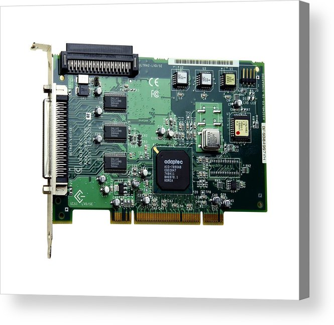 Scsi Card Acrylic Print featuring the photograph Scsi Card by Victor De Schwanberg