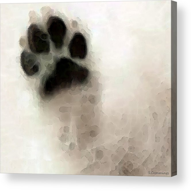 Dog Acrylic Print featuring the painting Dog Art - I Paw You by Sharon Cummings