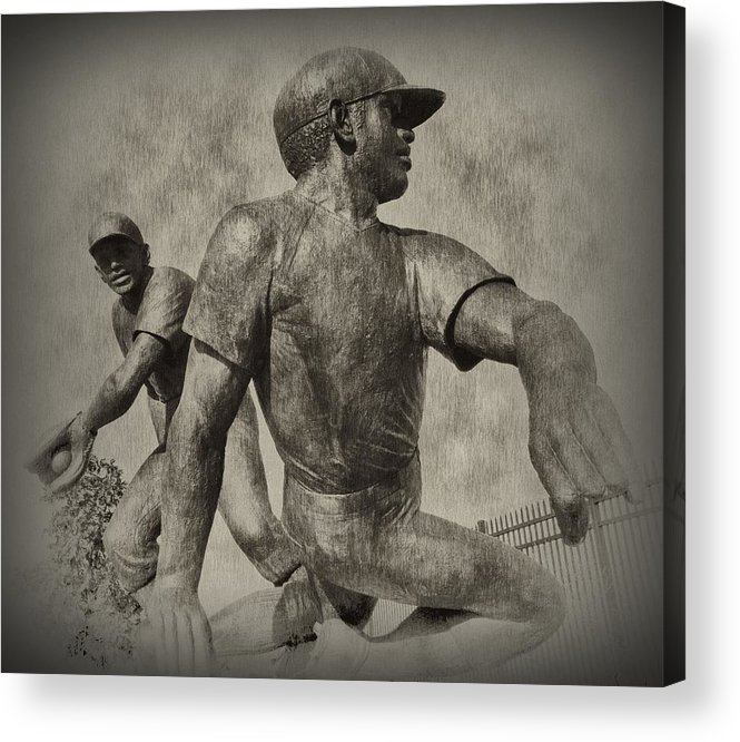 Baseball Acrylic Print featuring the photograph Stealing Third by Bill Cannon