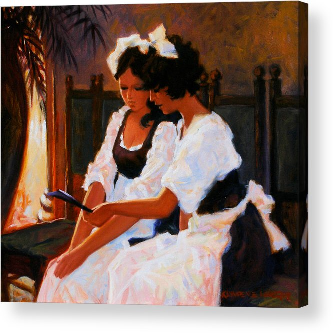 Interior Scene Acrylic Print featuring the painting Today's Special by Kevin Lawrence Leveque
