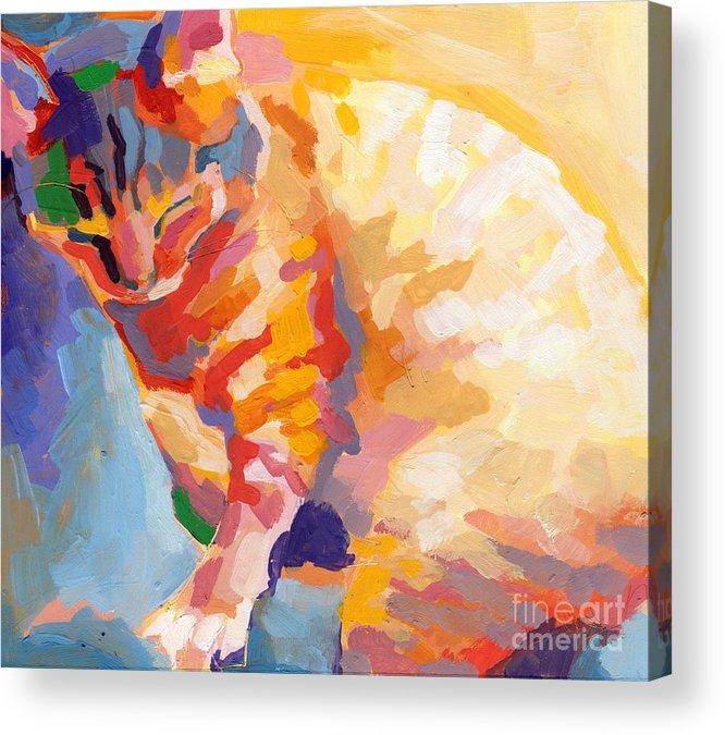 Mona Lisa Acrylic Print featuring the painting Mona Lisa's Rainbow by Kimberly Santini