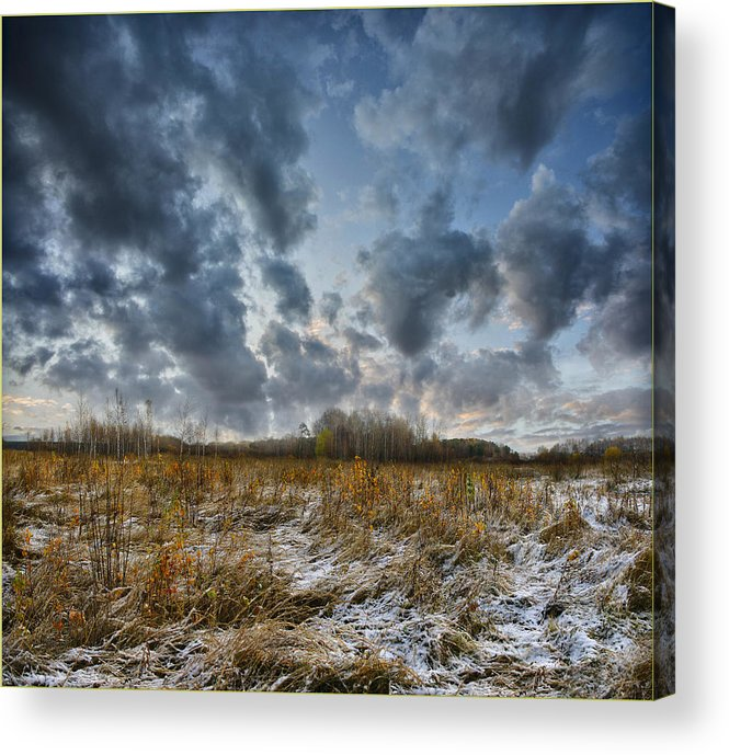 Landscape Acrylic Print featuring the photograph One Autumn Day by Vladimir Kholostykh