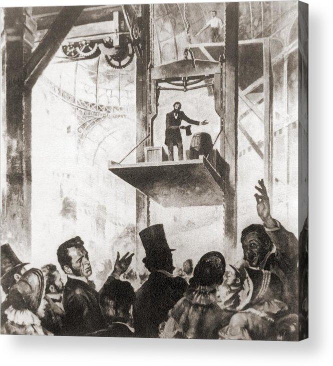 History Acrylic Print featuring the photograph Elisha Graves Otis 1811-1861 by Everett