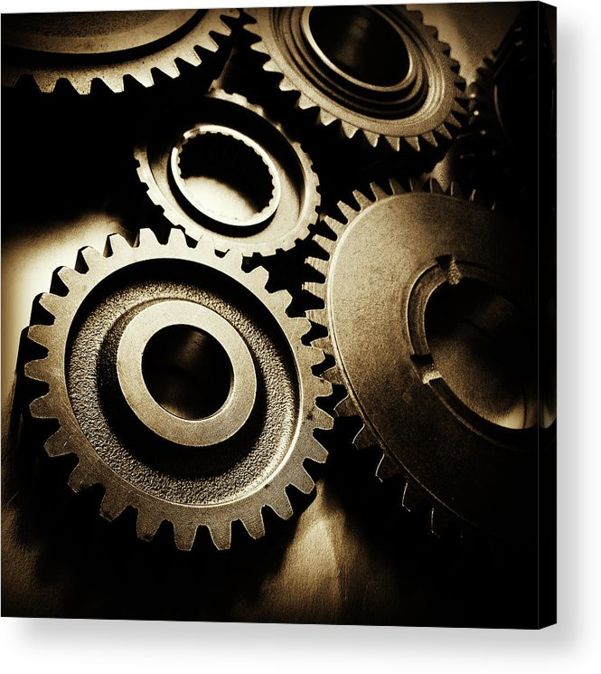 Gearing Acrylic Print featuring the photograph Cogs by Les Cunliffe