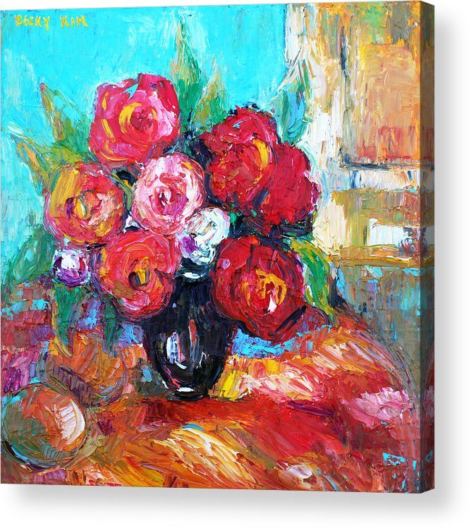 Still Life Acrylic Print featuring the painting Beautiful Day by Becky Kim