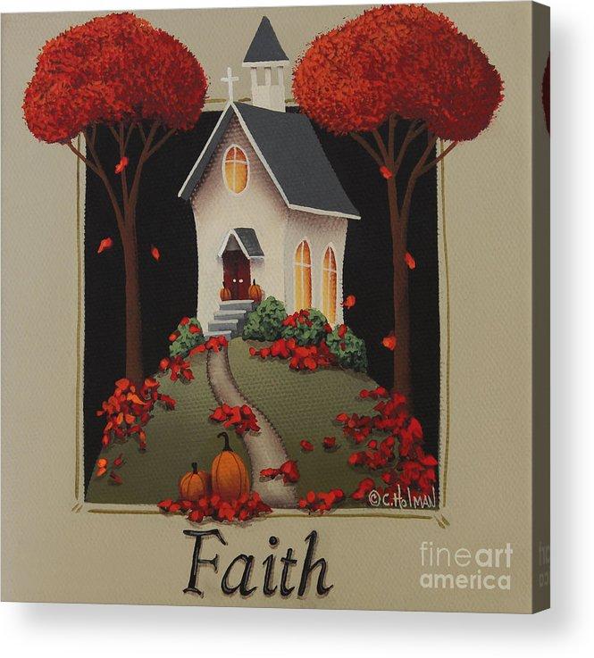 Art Acrylic Print featuring the painting Faith Country Church by Catherine Holman