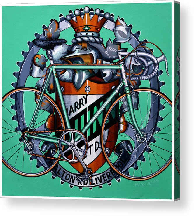 Bicycle Acrylic Print featuring the painting Harry Quinn by Mark Howard Jones