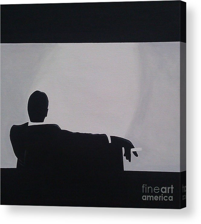 Artist Acrylic Print featuring the painting Mad Men In Silhouette by John Lyes