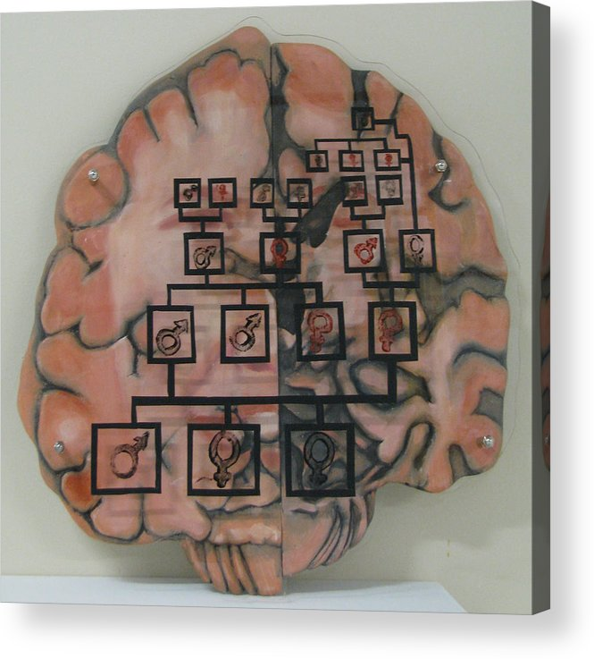 Brain Acrylic Print featuring the painting Your Brain On Alzheimer's by Art Nomad Sandra Hansen
