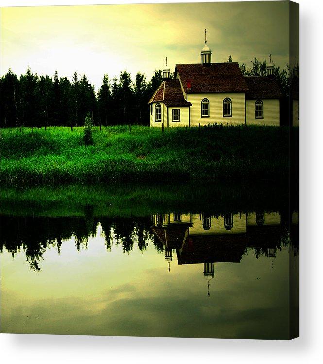 Photographers Acrylic Print featuring the photograph Reflection Of Faith by Jerry Cordeiro