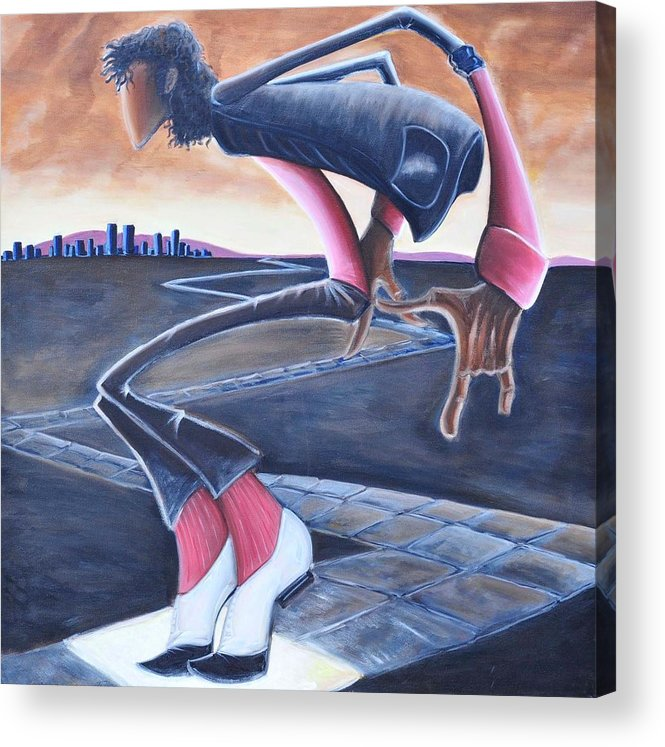 Mj Acrylic Print featuring the painting Billie Jean by Tu-Kwon Thomas