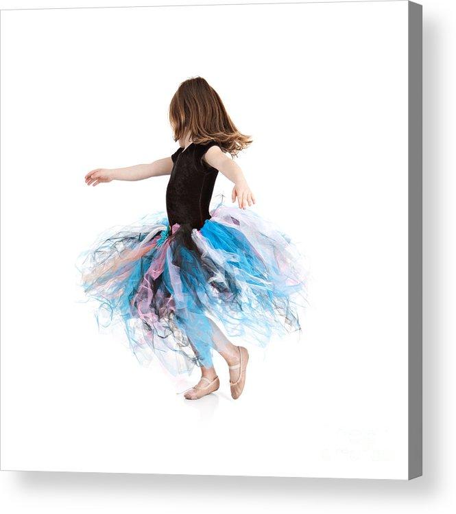 Little Girl Acrylic Print featuring the photograph Little Ballerina by Cindy Singleton