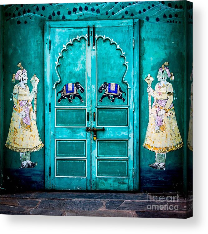 India Acrylic Print featuring the photograph Behind The Green Door by Catherine Arnas