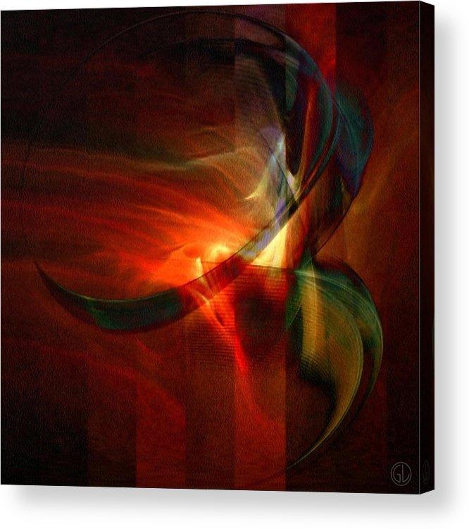 Abstract Acrylic Print featuring the digital art Fiery Flight by Gun Legler