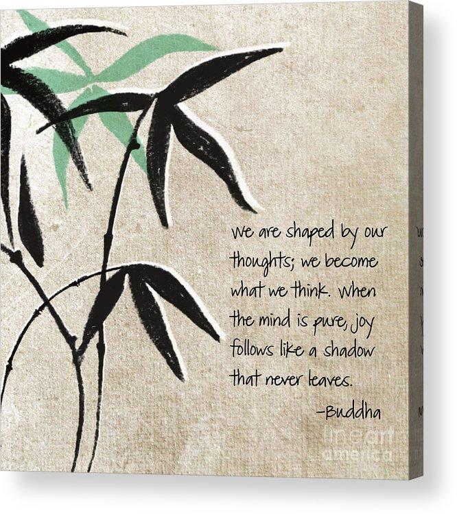 Joy Acrylic Print featuring the mixed media Joy by Linda Woods