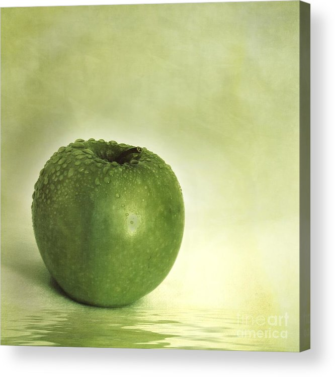 Apple Acrylic Print featuring the photograph Just Green by Priska Wettstein