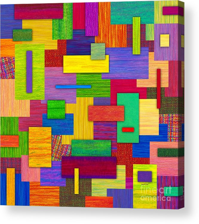 Colored Pencil Acrylic Print featuring the painting Sampler by David K Small
