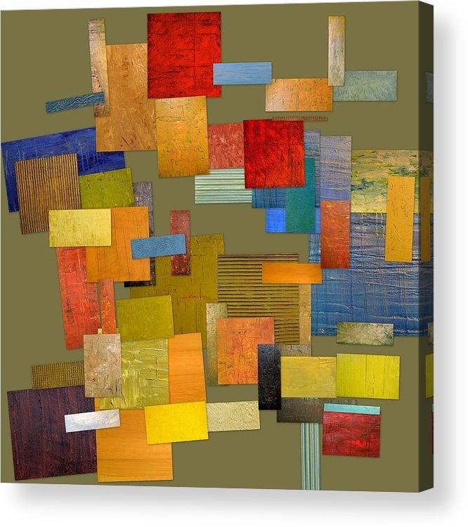 Textural Acrylic Print featuring the painting Scrambled Eggs Ll by Michelle Calkins