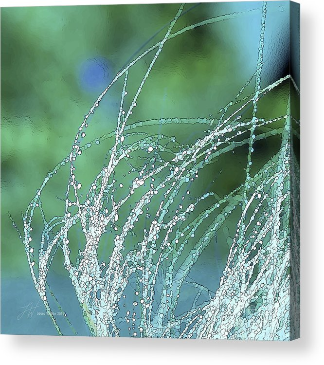 Grass Acrylic Print featuring the painting Spring Grass by Artist and Photographer Laura Wrede