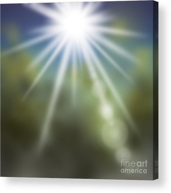 Abstract Acrylic Print featuring the painting Startosphere by Atiketta Sangasaeng