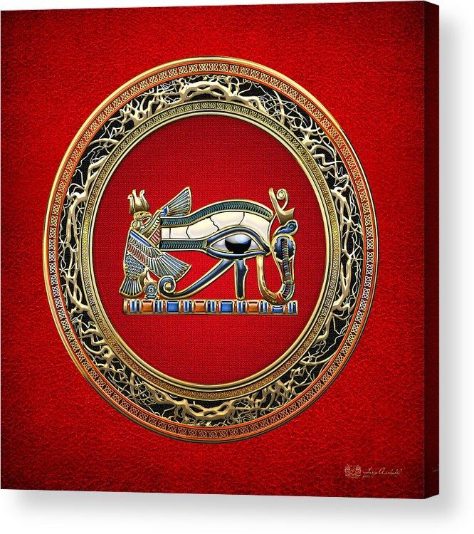 C7 Treasure Trove 3d Acrylic Print featuring the digital art The Eye Of Horus by Serge Averbukh