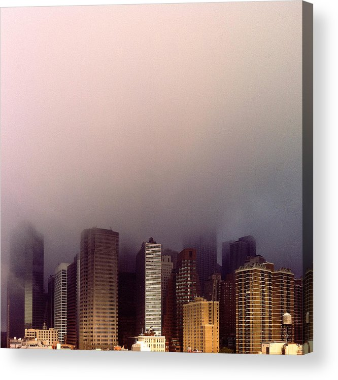 Architecture Acrylic Print featuring the photograph Manhattan by Eli Maier