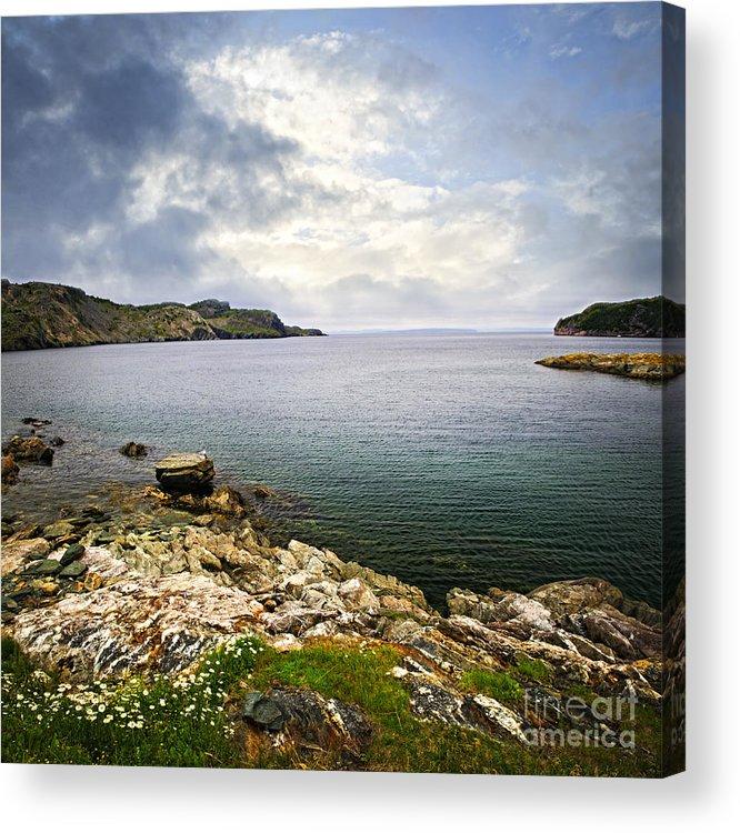 Coast Acrylic Print featuring the photograph Atlantic Coast In Newfoundland by Elena Elisseeva