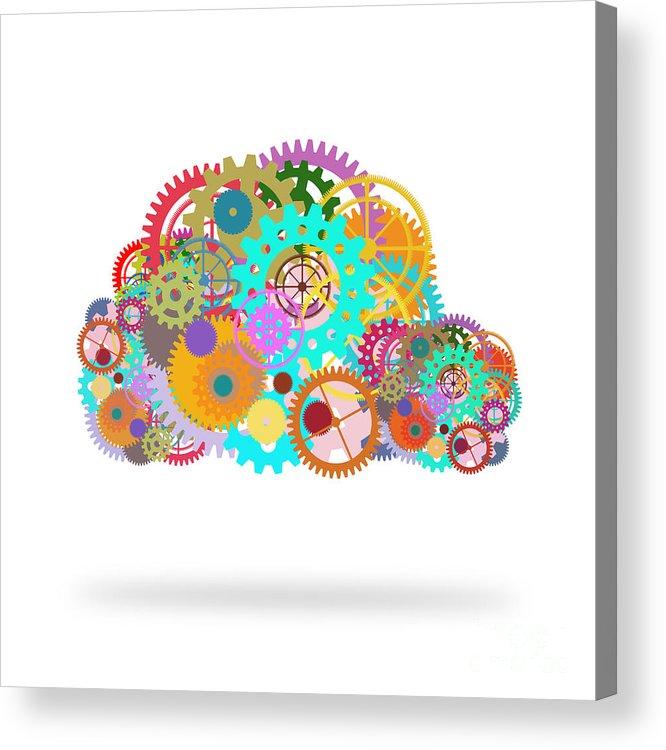 Art Acrylic Print featuring the painting Gears Wheels Design by Setsiri Silapasuwanchai