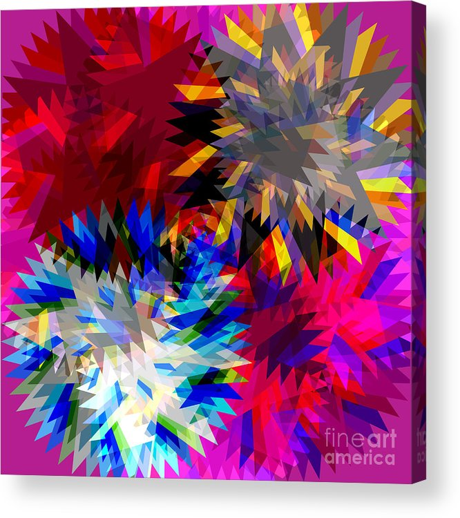 Allure Acrylic Print featuring the digital art Blade In Pink by Atiketta Sangasaeng