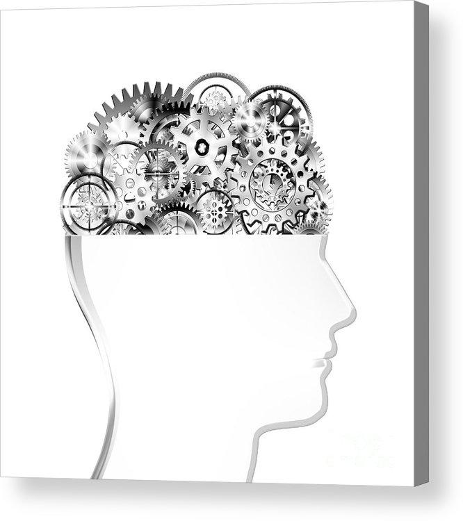 Art Acrylic Print featuring the photograph Brain Design By Cogs And Gears by Setsiri Silapasuwanchai