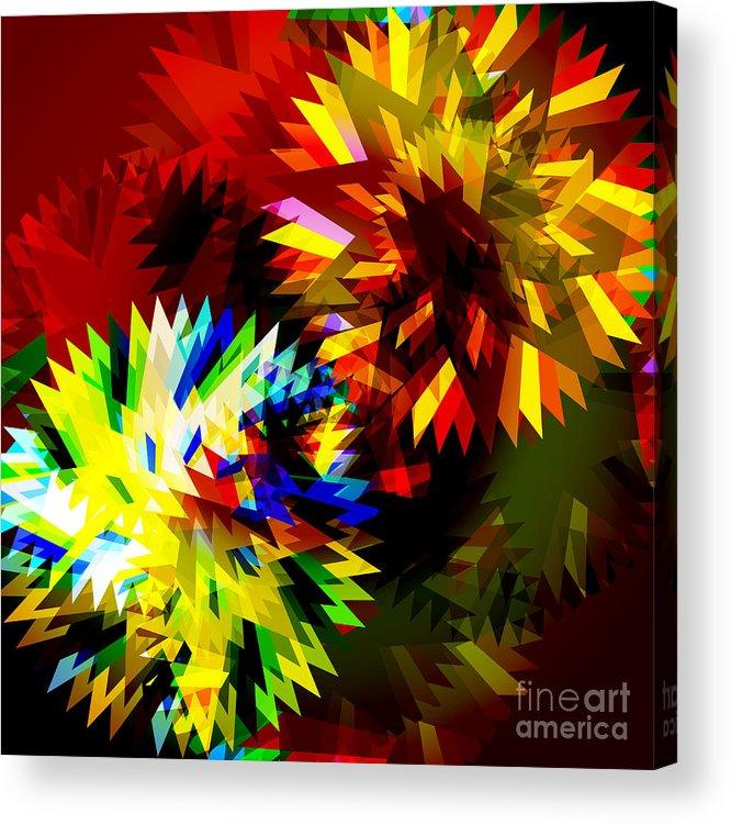 Art Acrylic Print featuring the digital art Colorful Blade by Atiketta Sangasaeng