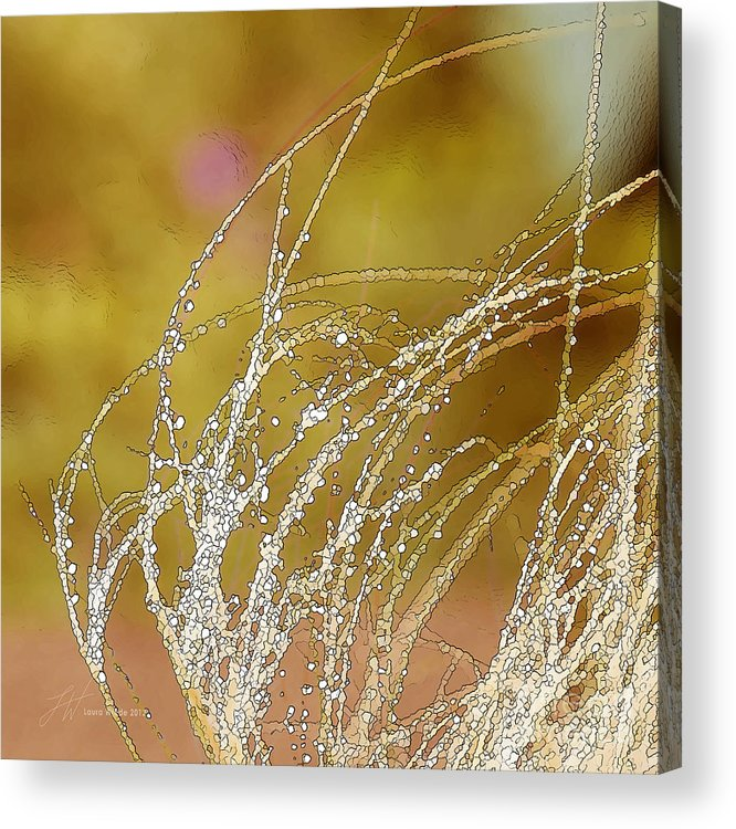 Grass Acrylic Print featuring the painting Fall Grass by Artist and Photographer Laura Wrede