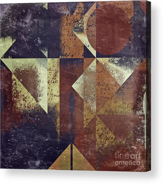 abstract Art Acrylic Print featuring the digital art Geomix 04 - 6ac8bv2t7c by Variance Collections