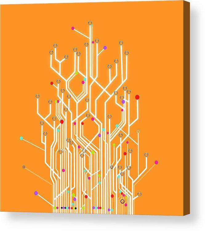 Abstract Acrylic Print featuring the photograph Circuit Board Graphic by Setsiri Silapasuwanchai