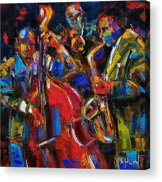 Jazz Acrylic Print featuring the painting Jazz by Debra Hurd
