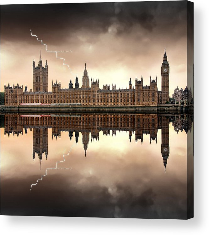 Architecture Acrylic Print featuring the photograph London - The Houses Of Parliament by Jaroslaw Grudzinski