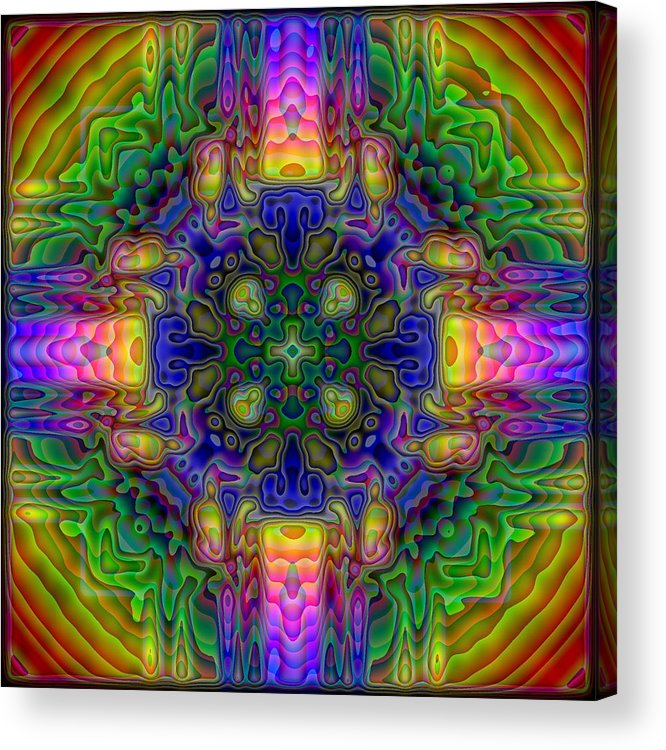 Kaleidoscope Acrylic Print featuring the digital art Melted by Lyle Hatch