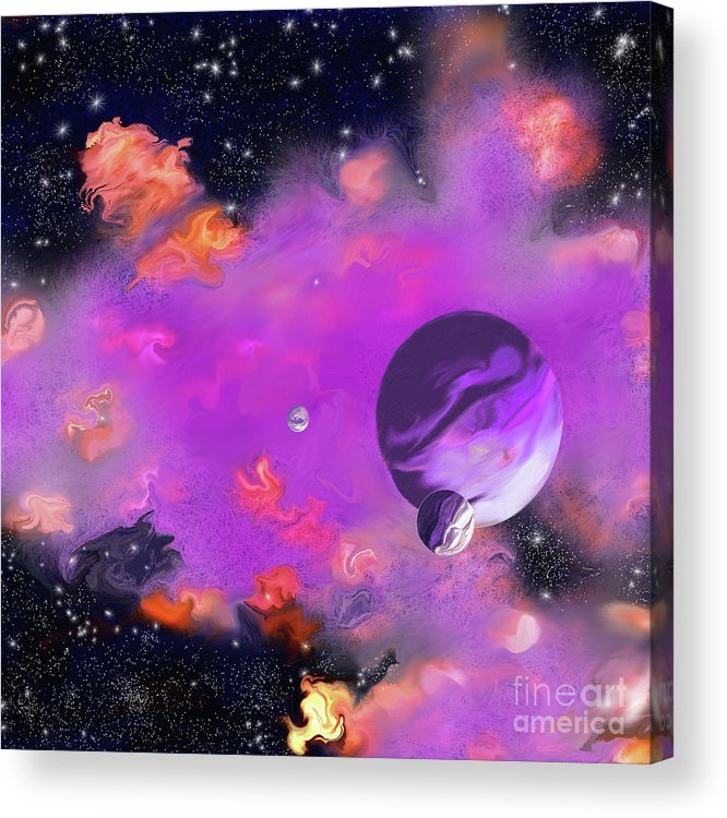 My Space Acrylic Print featuring the painting My Space by Methune Hively