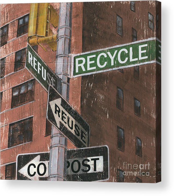 Vintage Acrylic Print featuring the painting Nyc Broadway 1 by Debbie DeWitt